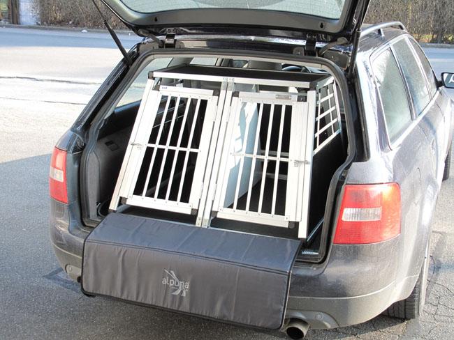 n43 hundetransportb ox doppelbox aluminium transportbox. Black Bedroom Furniture Sets. Home Design Ideas