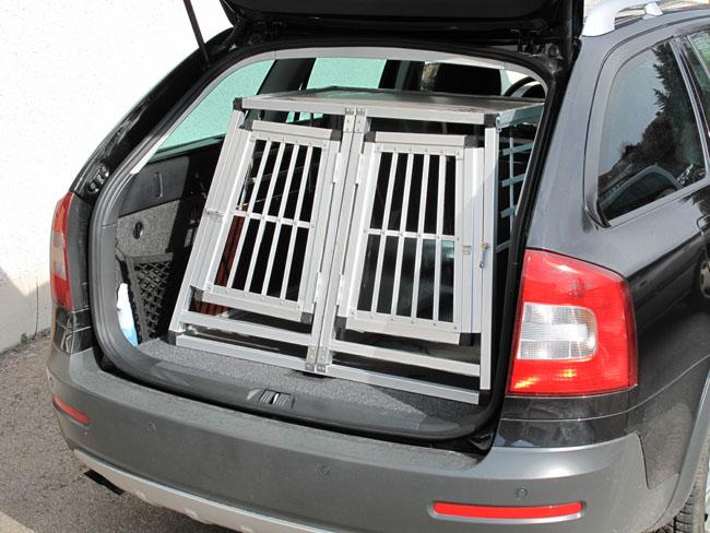 n23 hundetransportbox doppelbox aluminium transportbox. Black Bedroom Furniture Sets. Home Design Ideas