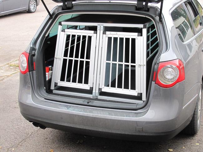 n3 bo te de transport pour chien doppelbox en aluminium. Black Bedroom Furniture Sets. Home Design Ideas