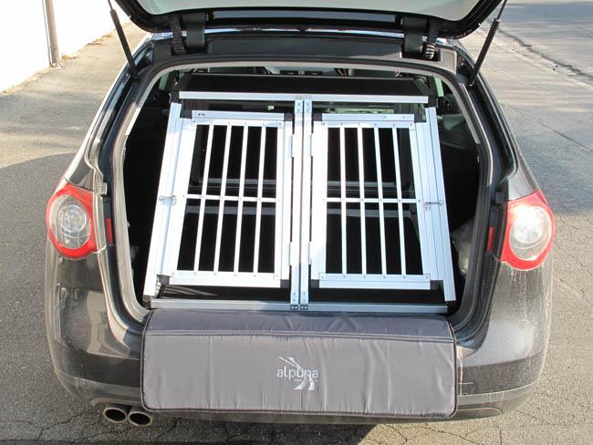 n44 hundetransportb ox doppelbox aluminium transportbox. Black Bedroom Furniture Sets. Home Design Ideas