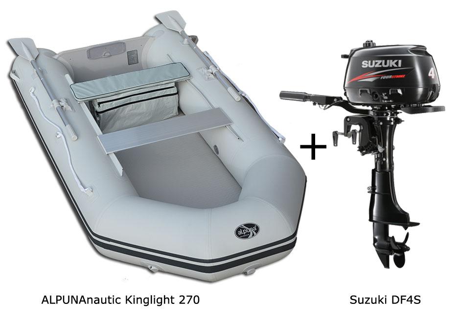 SUZUKI Motor />/> BUNDLE ALPUNA nautic Kinglight 270 ultraleichtes Schlauchboot