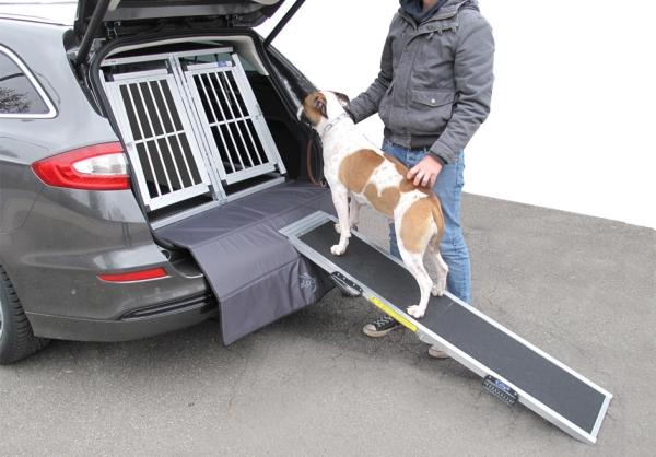 Auto-Hunderampe aus Aluminium
