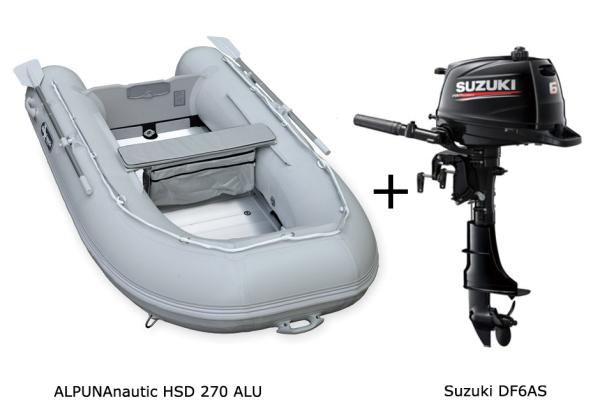 HSD 270 mit SUZUKI Außenbordmotor