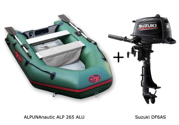 ALP265 Aluboden mit SUZUKI Außenbordmotor