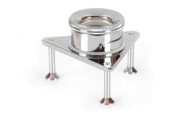 Dreibein-Lupe 10x 21mm verchromt