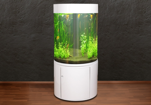 DO-80 Zylinder-Aquarium 360° T5 weiß