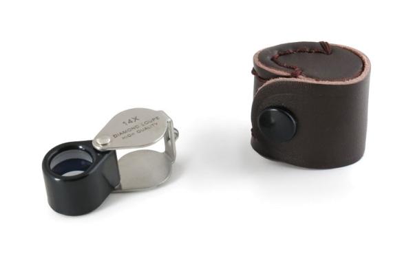 Einschlaglupe 14x 12mm ultrakompakte Mini-Version