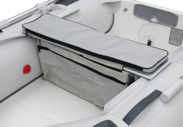 Sitzpolster inkl. Stauraumtasche in diversen Längen / Farben: grau oder schwarz