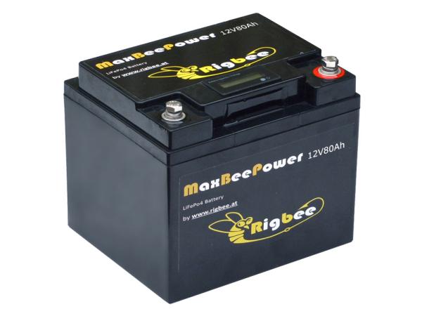 Rigbee LiFePO4 Akkublock 12V 80Ah / 1024Wh