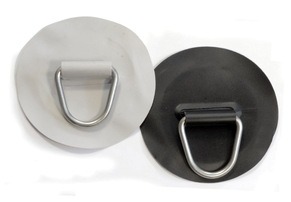 D-Ring Edelstahl auf PVC-Gewebe - Ø ca. 14,5cm