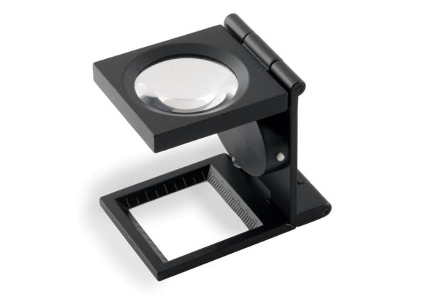 LED Klapplupe mit Fadenzähler 6fach / 28mm Linse