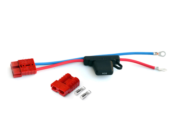 Rigbee Quick Connector Set / Sicherung 50A / 600V rot
