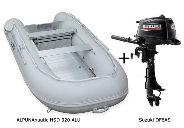 HSD 320 mit SUZUKI Außenbordmotor