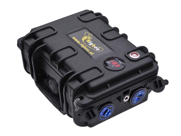 Rigbee LiFePO4 Powerbank-Koffer 12V 17,5Ah / 225Wh