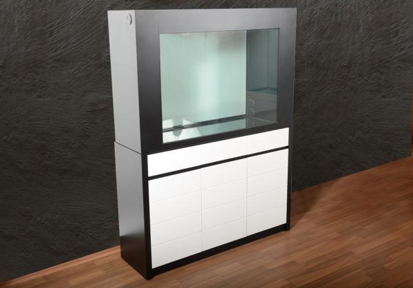 Z120 Rahmen-Aquarium T5 in weiß/schwarz AUSSTELLUNGSSTÜCK
