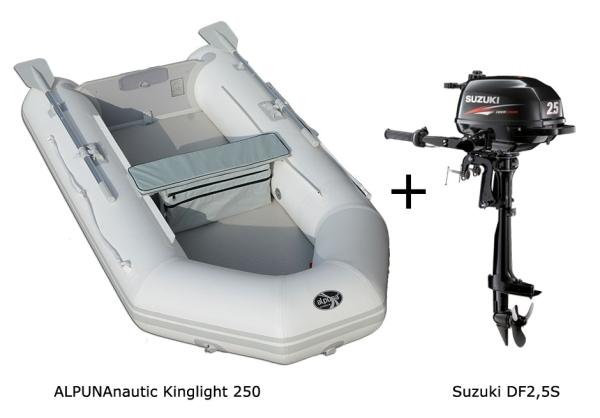 Kinglight 250 mit SUZUKI Außenbordmotor