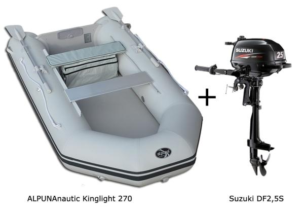 Kinglight 270 mit SUZUKI Außenbordmotor