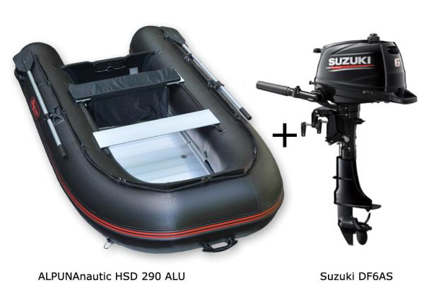 HSD 290 mit SUZUKI Außenbordmotor