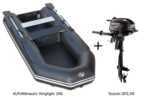 Kinglight 290 mit SUZUKI Außenbordmotor