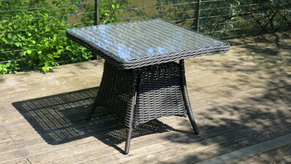 Outdoor Tisch 92 x 92cm / Glasplatte