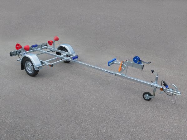 Marlin- Bootstrailer BTE 500 KG für Schlauchboote / 100km/h Zulassung