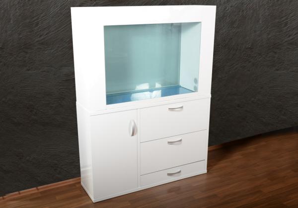 X120 Rahmen-Aquarium T5 in weiß AUSSTELLUNGSSTÜCK