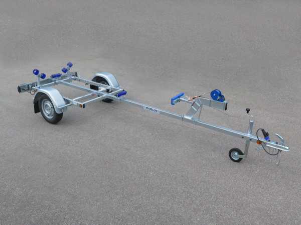 Marlin- Bootstrailer BTE 500 KG für Festrumpfboote / 100km/h Zulassung