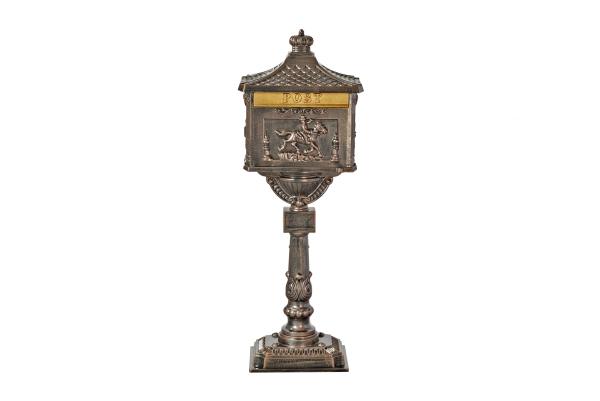 nostalgischer Standbriefkasten JUPITER bronze