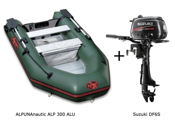 ALP300 Aluboden mit SUZUKI Außenbordmotor
