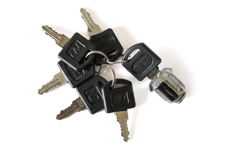 Ersatzschloss + 6 Schlüssel